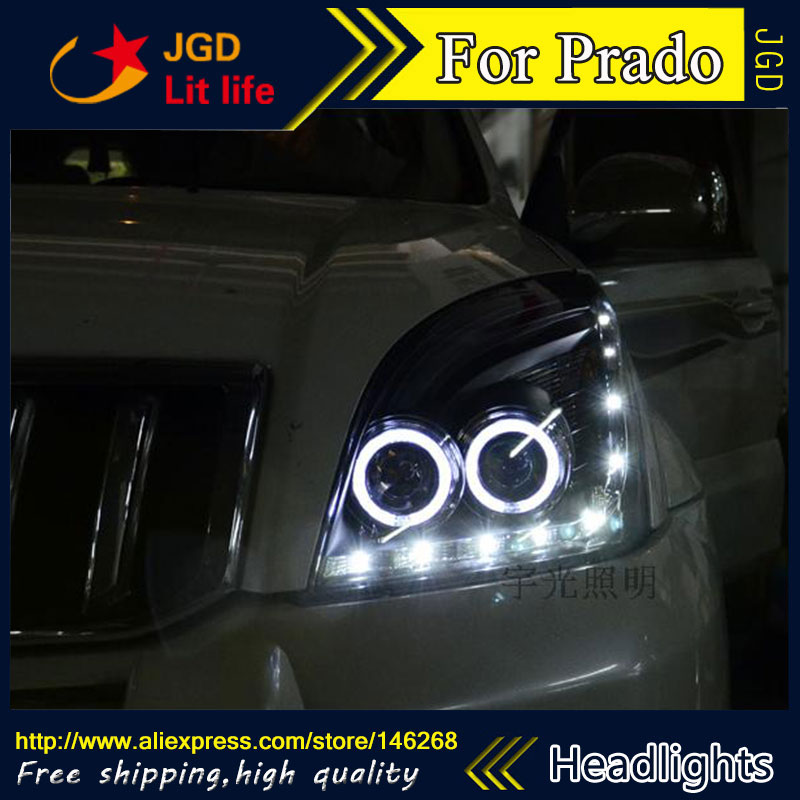 Free shipping ! Car styling LED HID Rio LED headlights Head Lamp case for Toyota Prado Bi-Xenon Lens low beam автокресло peg perego peg perego автокресло viaggio 1 duo fix k rouge