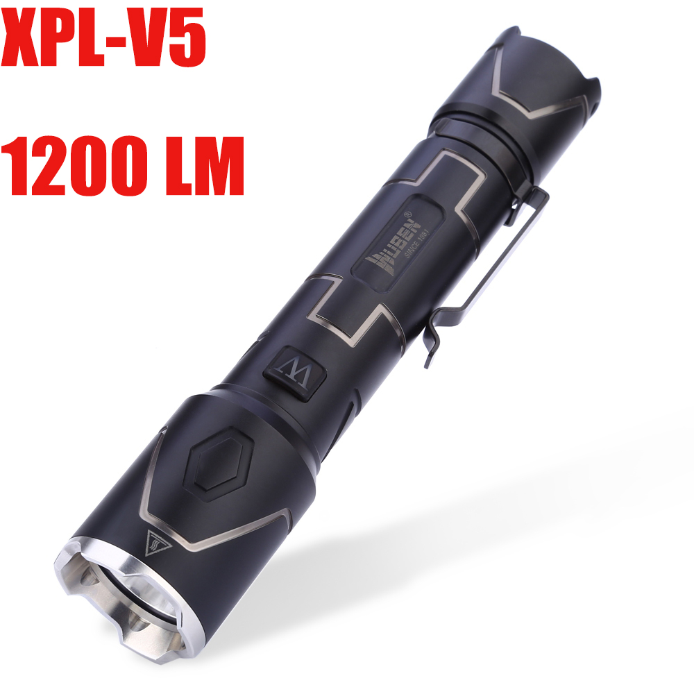 I333 1200LM CREE XPL-V5 LED Flashlight Waterproof Wear Resistant Lamp Outdoor Camping Hking Hunting Torch Lamp Light 3800 lumens cree xm l t6 5 modes led tactical flashlight torch waterproof lamp torch hunting flash light lantern for camping z93