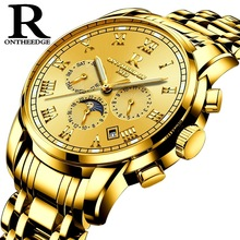 ONTHEEDGE Watch Men Luxury Waterproof Small Dial Function Automatic 316L Steel Mechanical Business Gift Skeleton Clock