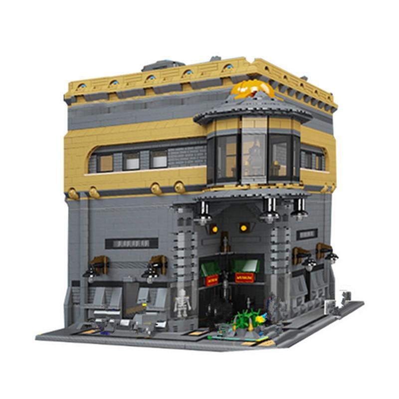 IN STOCK Lepin 15015 5003Pcs City Street The Dinosaur Museum Model Building Kits Blocks Bricks lepin