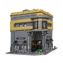 В наличии Лепин 15015 5003 шт. город улица динозавра музей модель здания Наборы блоки кирпичи Лепин Совместимость DIYToys подарок