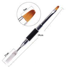 1PCS Poly Gel Nail Brush UV Polishing Polygel Brushes For Art Fast Tips Building Extension Tools 14cm/pcs FD62-388