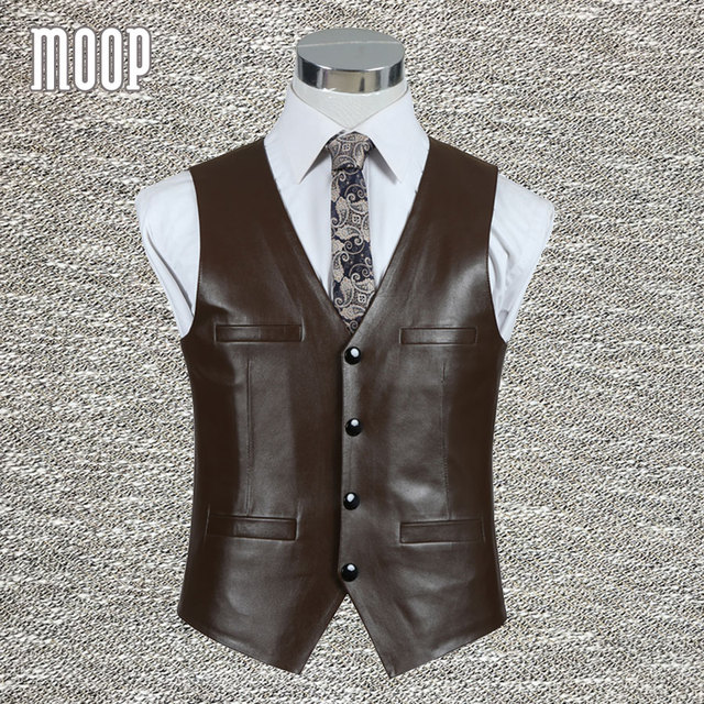 Black brown genuine leather vest 100%lambskin leather jacket men waistcoat business coat chaleco hombre colete LT705 Free ship