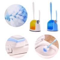 HAICAR 1 Set Toilet Bowl Brush Sink Brush With Holder Multifunction Cleaning Tool Toilet Wisper Happy