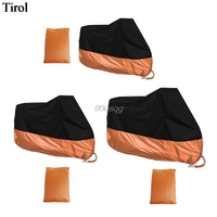 Orange L XL XXXL Motorcycle Cover Waterproof For Harley Davidson Street Glide Touring Drop Shipping