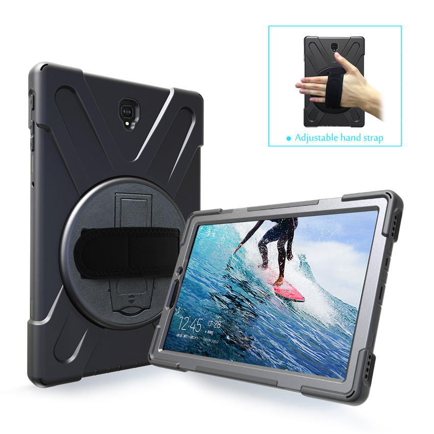 Case For Samsung Galaxy Tab S4 10.5 SM-T830 T835 T837 Tablet Kids Skin Safe Shockproof Armor Hard Cover+ Hand Strap & Neck Strap