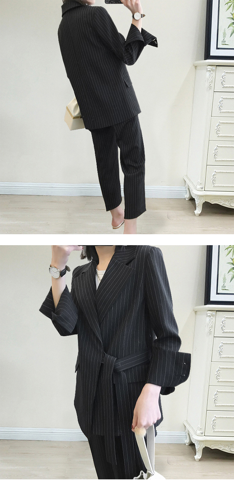 New arrival women plus big size pant suit professional temperament fashion warm suit elastic waist pant comfortable pant suits 3