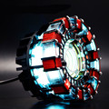 Cool! escala 1:1 Iron Man Arc Reactor Reactor precisa para montar diâmetro de 8 cm com Luz LED Action Figure Toy Presente do Miúdo WU554