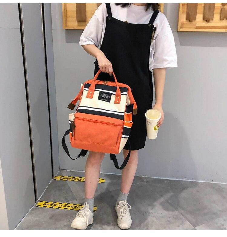 HTB1E5gaUbrpK1RjSZTEq6AWAVXa1 2019 Korean Style Women Backpack Canvas Travel Bag Mini Shoulder Bag For Teenage Girl School Bag Bagpack Rucksack Knapsack