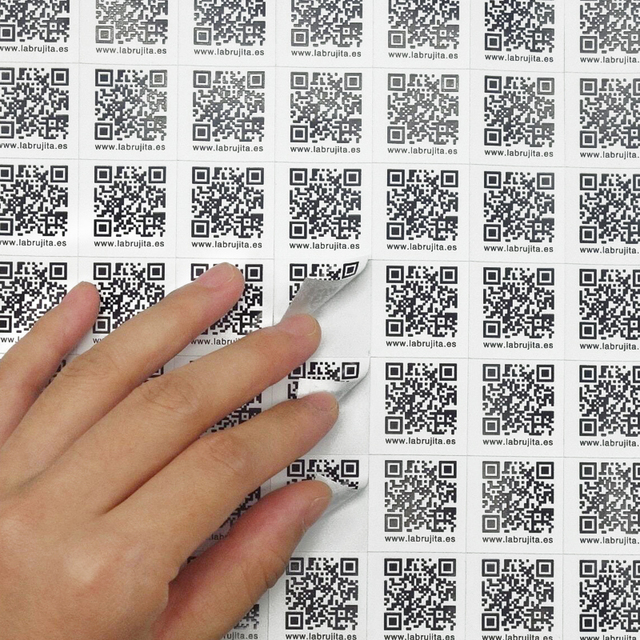 Qr code stickers logo printing 3cm x 4cm x1000 pcs lot customized stickers