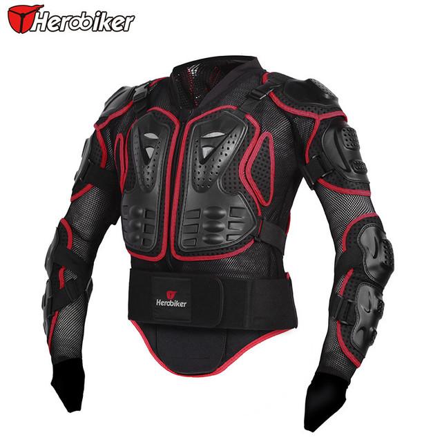 HEROBIKER Profesional ROJO Protección Del Cuerpo de La Motocicleta Motocross Racing Body Armor Spine Protectora Pecho Gear