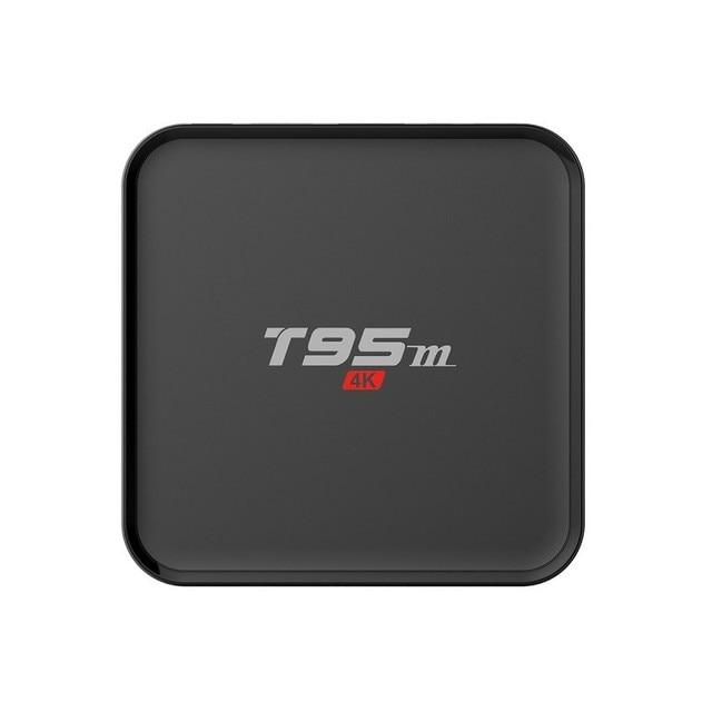 Anewish T95M Android TV Box Quad Core Amlogic S905X 64bit UHD 2 K * 4 K Miracast DLNA Smart Set top box IPTV HDMI 2.0 KD