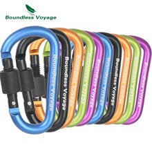 Boundless Voyage 5pcs/lot Quality Mountaineering Buckle With Lock Camping Hook Outdoor Multi-function Carabiner BV1010