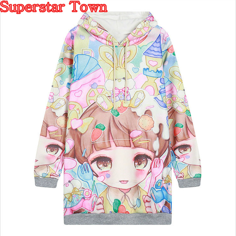Women Sweatshirt Cute Sweet Lolita Pullovers Sweet Lolita Hoody Hoodie Felpe Donna Mori Girl Kawaii Clothes Harajuku