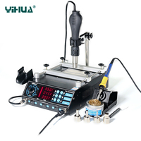 Yihua 853AAA 650W SMD Hot Air Gun 60W Soldering Irons 500W Preheating Station 3 Functions In