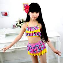 2016 new pretty Swimsuit New Summer Children Split Two-piece Swimsuit Girls Bikini Girls Beautiful Bikini Children's Swimwear