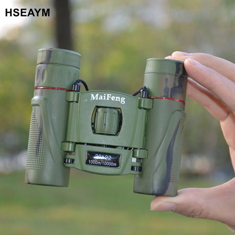 20X22 MINI Binoculars Telescope Field-glass Camouflage  Hunting Tourism Spotting Scope Portable Pocket Telescopio Green Film Pakistan