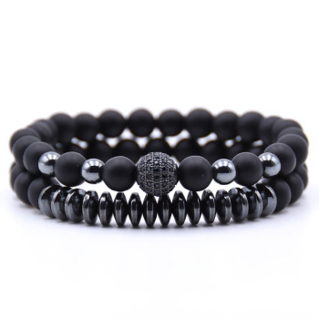 2PCS/Set Hematite Natural Stone Bracelet1