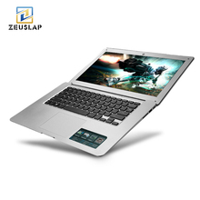 14inch Ultraslim 8GB RAM 120GB SSD Windows 10 System Intel Quad Core With Russian Keyboard For