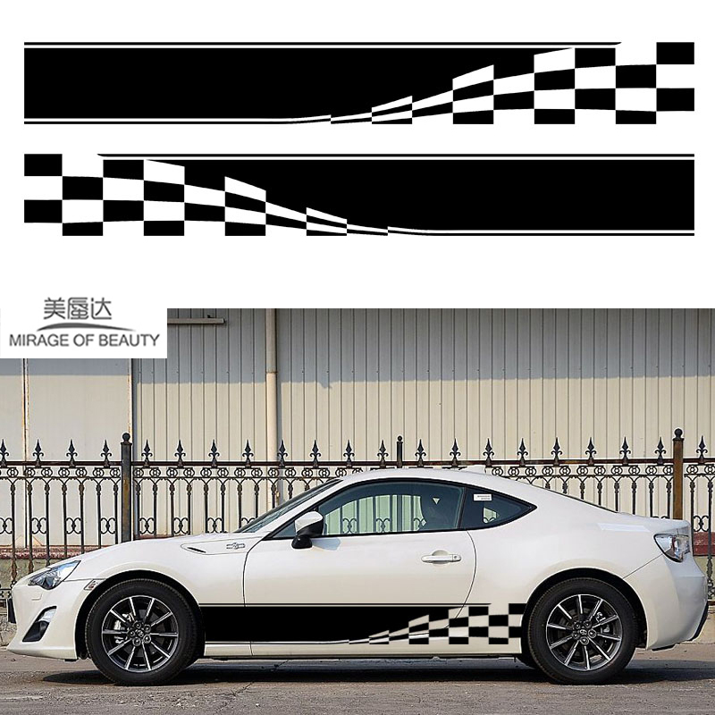 2x Checkered Flag Dynamic Movement To Accelerate Forward Racing Sport Car Motorhome Caravan Travel Trailer Campervan Vinyl Decal