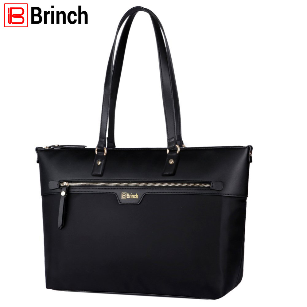 где купить BRINCH 15.6 inch Women Laptop Tote Bag Nylon Microfiber Zipper Carrying Bag Travel Computer Shoulder Bag Handbag дешево