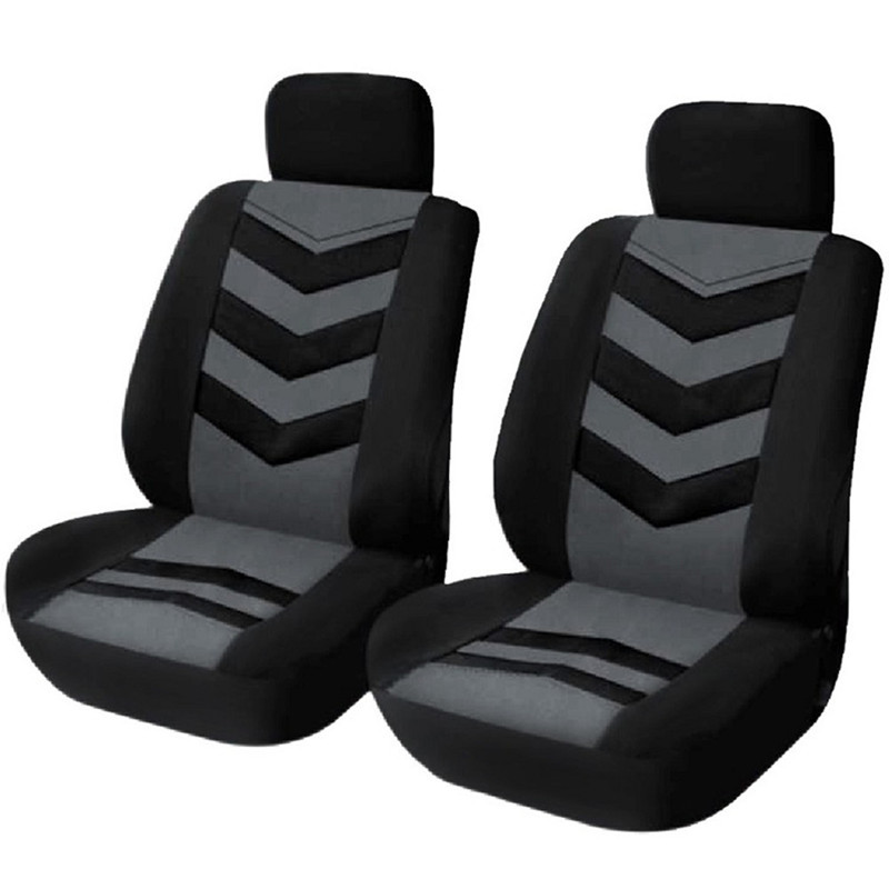 1 Set Car Universal Front Seat Cover Black Gray Four Seasons Senior Cushion Cover Fit Most Auto Car SUV dewtreetali car front seat cover sandwich four seasons universal seat protector cushion cover fit most auto car suv car styling