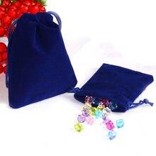 5 sacs d'emballage de bijoux en velours 7x9cm, sacs d'emballage, sacs cadeaux à cordon, vente en gros, pièces/sac