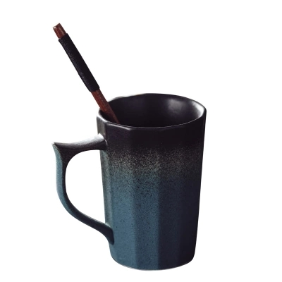 Retro ceramic cup creative matte matte coffee cup with handle couple office Mark cup