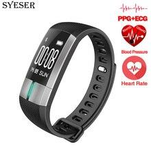 Syeser Новый S20 умный Браслет Приборы для измерения артериального давления мониторинг ЭКГ Фитнес трекер активности браслет pulsometro PK xio Mi band 2