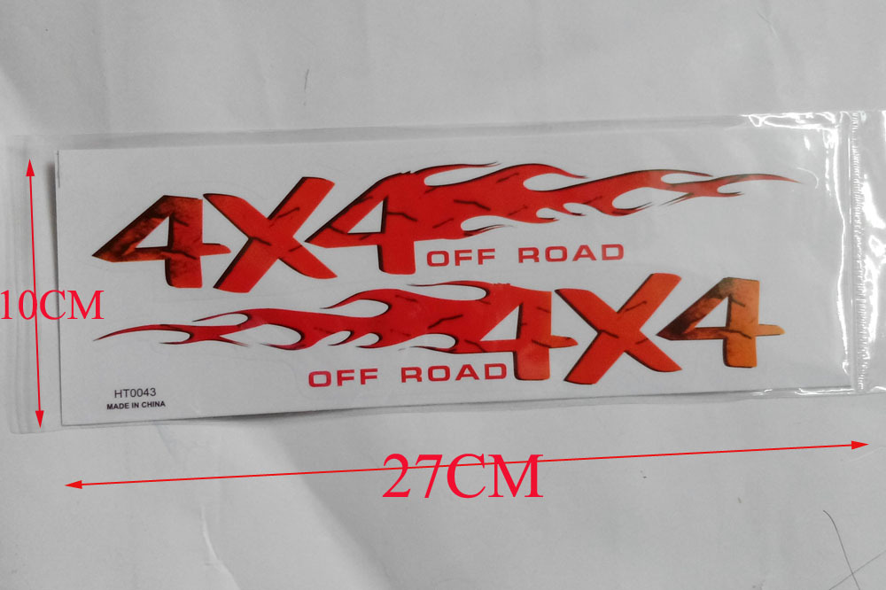 2 sheet 27CM 4X4 OFF ROAD sticker for Truck Car ATV off road vehicle UTV hi quality waterproof sticker наматрасники candide наматрасник водонепроницаемый waterproof fitted sheet 60x120 см