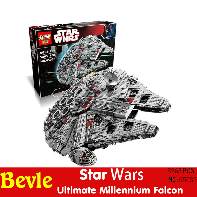 Lepin 05033 5265pcs Star Wars Ultimate Collector Millennium Falcon Model Building Blocks Bricks Toy Compatible with Legoe 10179