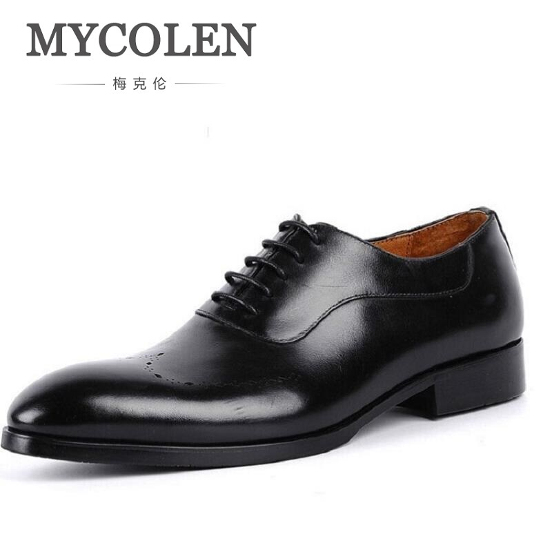 MYCOLEN Oxford Shoes Men Genuine Leather Formal Shoes For Wedding Sapato Social Men Leather Dress Shoes Winter Men Oxfords men party shoes oxfords 2015 hot men s genuine leather shoes brand sapato masculino couro social round toe palladium shoes 38 46