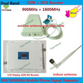 LCD GSM DCS Booster !!! Mobile GSM 900MHz Signal Repeater Dual Band GSM 4G Celulares Signal Amplifier GSM Booster Antenna 1 Set