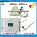 LCD GSM DCS Impulsionador!!! GSM 900 MHz Repetidor de Sinal de celular Dual Band GSM 4G Amplificador de Sinal de Celulares GSM Impulsionador Da Antena 1 Conjunto
