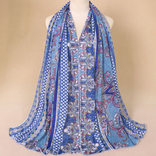 f2efc5123d18 Nouvelle Hiver Musulman Jersey Hijab Coton Écharpe Hijabs Grande Malaisie  écharpe Châle Pashmina Vintage Ethnique élasticité