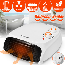 220V 2000W Electric Heater Warm Air Fan Adjustable Desktop Wall Portable Stove Radiator Warmer Machine for Winter Home Bathroom