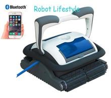 Наиболее профессиональных бассейн робот-пылесос с 18 м кабель, управления Смартфон, caddy корзину, самодиагностики, программируемый очистки