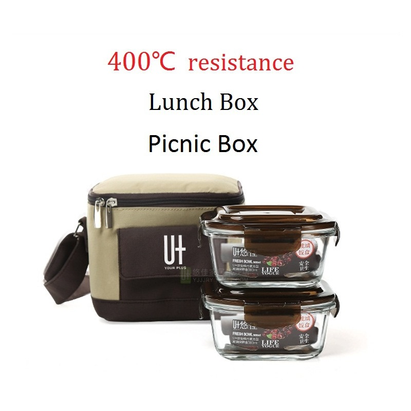 400 degree resistance glass lunch box microwave oven bento box lancheira adulto