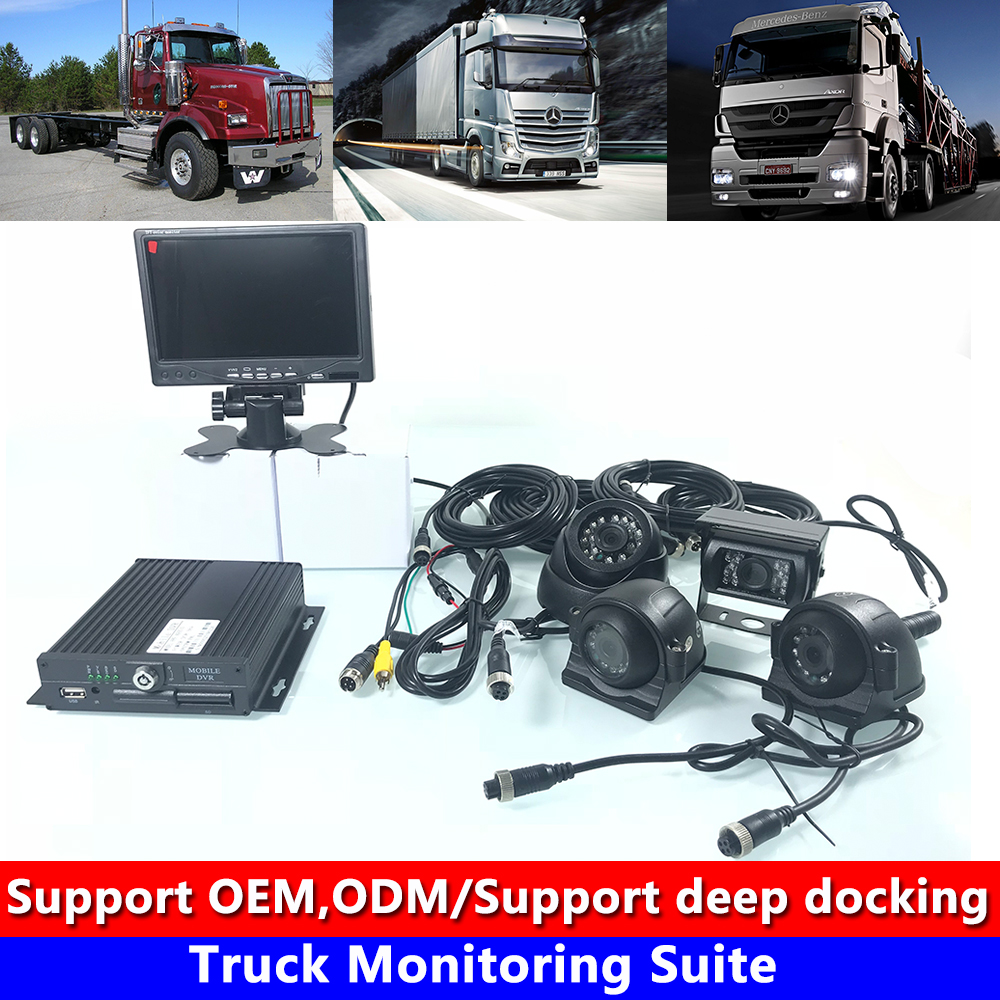 Private car / school bus / harvester truck monitoring kit HD system host docking tire pressure factory genuine wholesale Car Multi-angle Camera     -