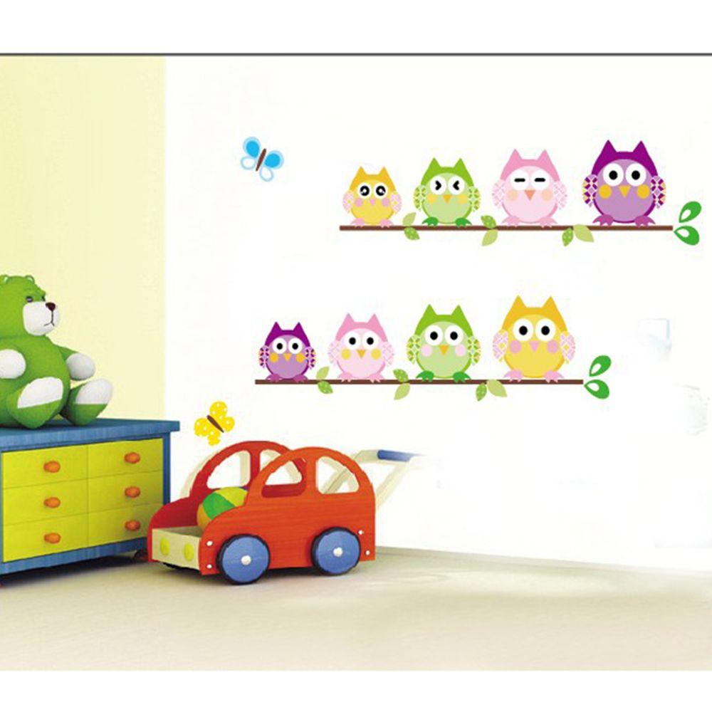 wall sticker tree animals bedroom Owl Butterfly Wall Stickers home decor living room butterfly for kids rooms vinilos paredes
