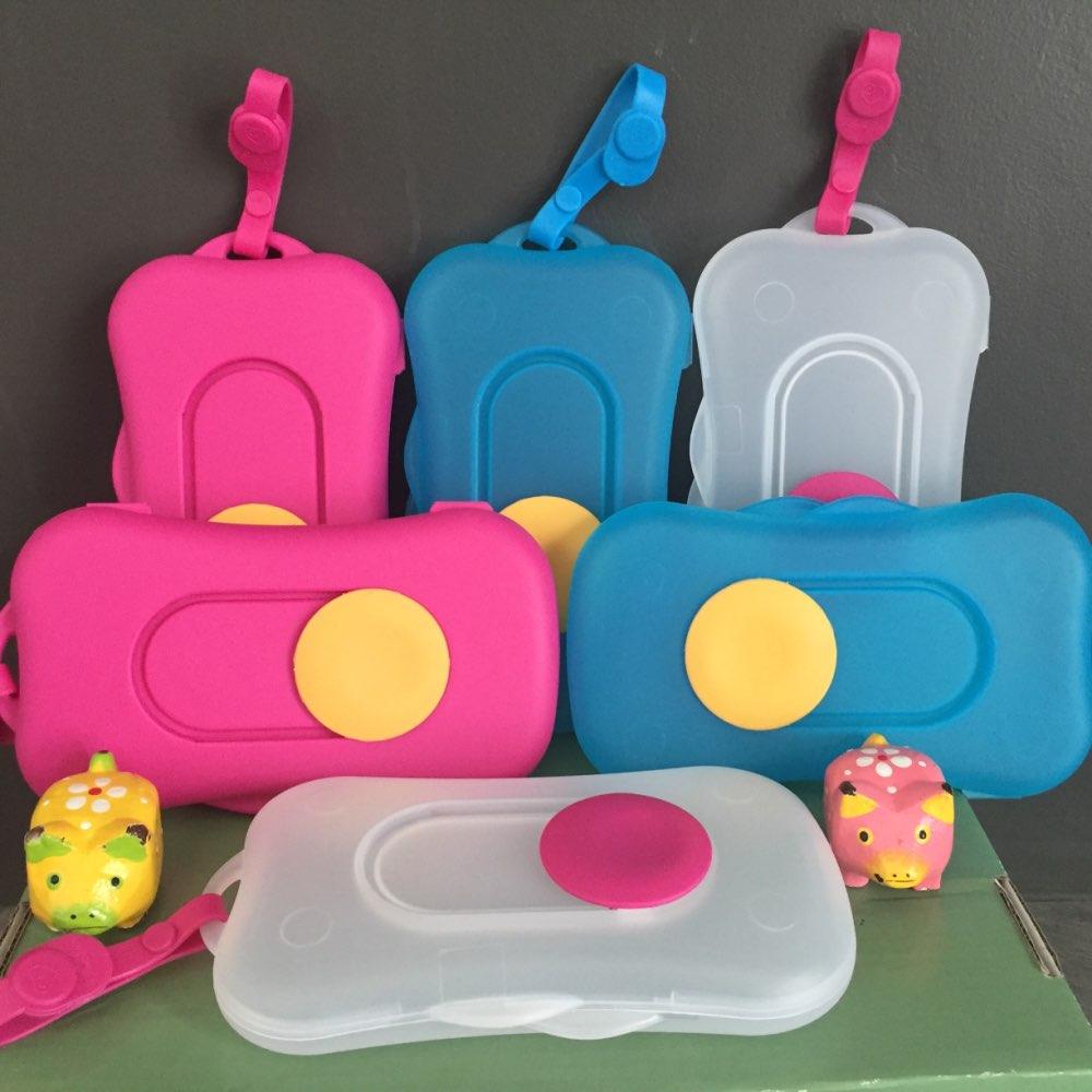 5pcs/lot New Plastic Wet Tissue Box Outdoor Transparent Portable Tissue Box For Baby Travel Wipes Dispenser Case 002