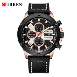 Image 2 - Watch Men Sports Chronograph Quartz Wrist Watches Hot Fashion Brand CURREN Leather Relog Hombre Water Resistence With Calendar