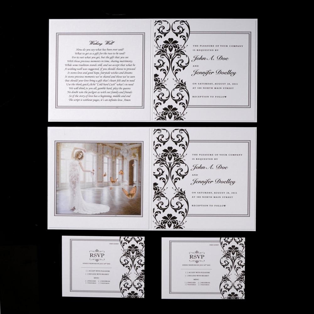 Amazing Wedding Invitation With Rsvp Sketch - Invitations Design ...