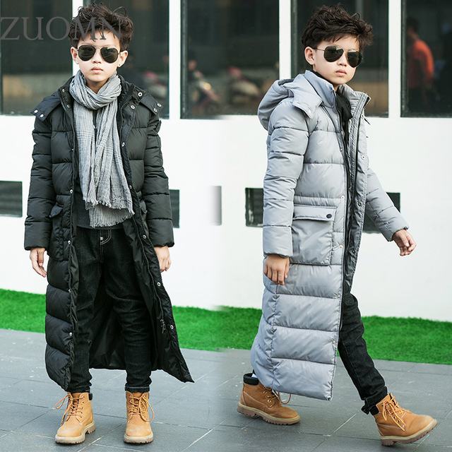 New Arrival Boy thick X-long hooded cotton-padded jacket Children Cotton-Padded Boys Clothes Kids Long Coat Clothing YL296