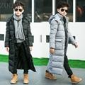 Nueva Llegada Boy gruesa x-larga con capucha de algodón acolchado Niños de la chaqueta de Algodón Acolchado Ropa de los Muchachos Niños de Largo Ropa de la capa YL296