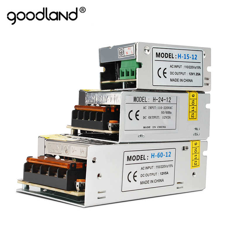Switching Power Supply DC12V 1A 2A 3A 5A 8A 10A 15A 20A 30A AC 110V 220V 240V to DC 12 Volts AC-DC 12 V for 12V LED Strip