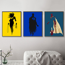 Marvel DC Super Heroes Poster Minimalist Canvas Painting Avengers Wonder Woman Superman Venom Wall Art Pictures for Living Room