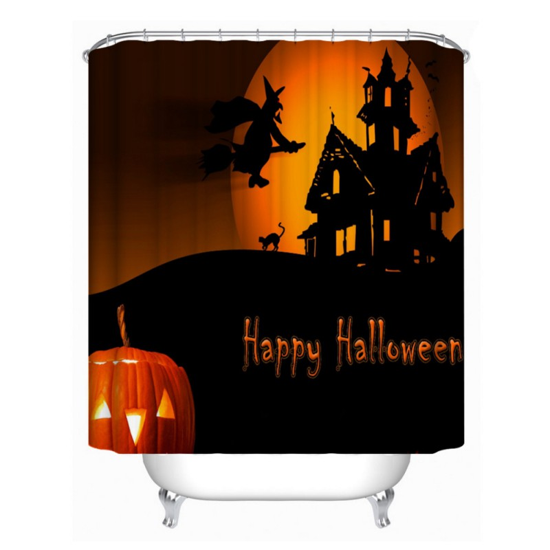 Waterproof Christmas Elf Shower Curtain Mildew Polyester Fabric Halloween Decor In Curtains From Home Garden On