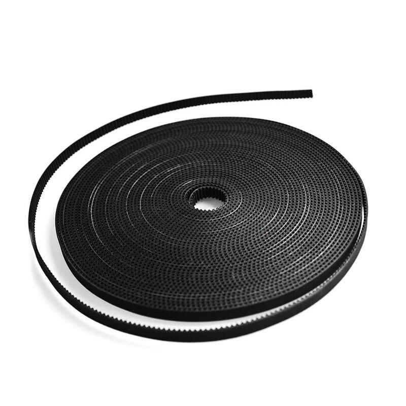 Black White 3d Printer 2/5m 6mm 2gt Belt Accessories Gt2 Synchronous Timing Belt Width 6mm For 3d Printer Gt2 Pulley