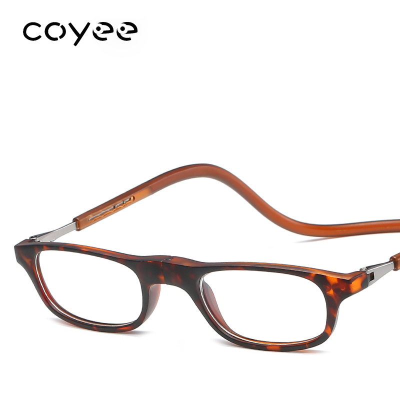 Coyee Magnet Click hanging neck reading glasses for reader Presbyopia Eyewear +1.00 to +4.00 diopter for women Vintage retro